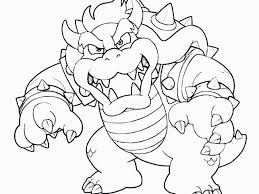 Innovative Ideas Bowser Coloring Page Bowser Coloring Pages For