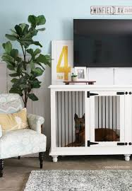 love this dog furniture crate this trendy tv stand doubles as a wood farmhouse