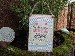 Shabby Metallschild Tafel Spruch Blumen Säen Blechschild Deko