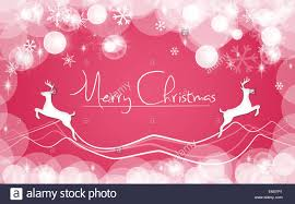 Pink Christmas Card Simple Pink Red Christmas Card Snows Background Stock Photo