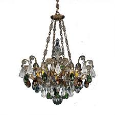 schonbek 3587 26cl renaissance 8 light crystal chandelier in french gold with clear rock crystal