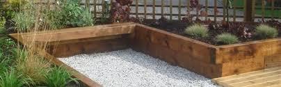 to lay railway sleepers in the garden