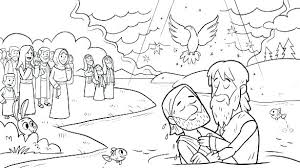Jesus Baptism Coloring Pages Baptism Of Coloring Page Jesus Baptism