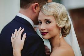 1920s bridal hair and makeup 1920s vine style wedding