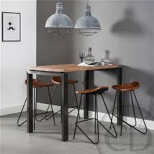 Table haute de cuisine industrielle pieds métal sur CDC Design