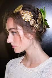 Mature woman's hair decoration