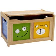 childrens four friends wooden toy storage chest by pintoy 01905