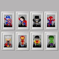 Superhero Bedroom Decor Superhero Bedroom Wall Decor Prints 8x10 Inch Each Shipped To