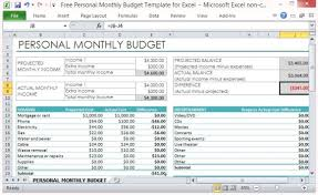 Personal Financial Budget Sheet Personal Finance Excel Template Personal Financial Planning And