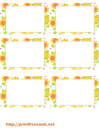summer sun flowers free printable name tags