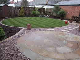 Small Picture New circular garden design of lawn and patio Lawn Care