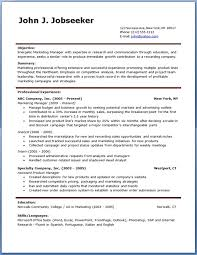 Resume Templates For It Professionals Free Download