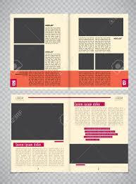 Modern Magazine Layout Template Vector