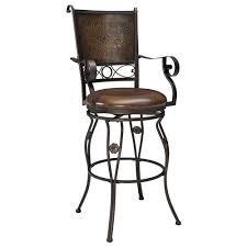 Bar Height..Big \u0026 Tall Copper Back Swivel Bar Stool with Arms by ...