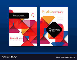 Free Company Report Business Company Profile Brochure Template