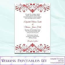Wedding Invitation Background Designs Red Template Elegant Bridal