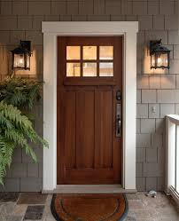 white craftsman front door. Craftsman Exterior Door Entry With White Trim Flush Mount Potted Plants Front M