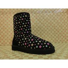 2014 UGG Women Luminous Stars Short Boots 5825 Black