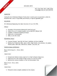 Sample Resume Mechanical Engineer Mechanical Engineering Student Resume Automotive Mechanical Engineer 72