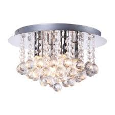 bella modern 4 light crystal flush