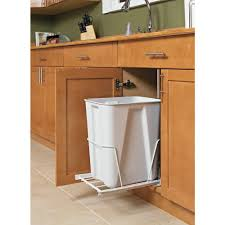 Closetmaid Gal White Pull Out Trash Can The Home Depot Under Kitchen Sink  Garbage Beda ...