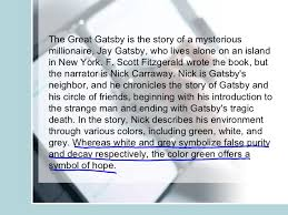 a book report on the great gatsby example of an abstract for apa   online computer science homework help