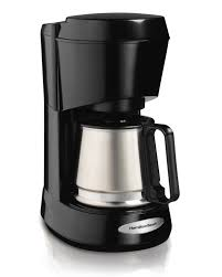 Coffee Maker Carafe And Single Cup Amazoncom Hamilton Beach 5 Cup Coffee Maker With Stainless