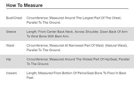 Mountain Hardwear Size Guide