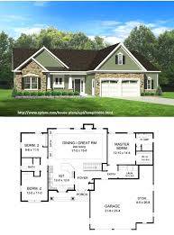 3 bedroom with basement house plans ranch house plan square feet and 3 bedrooms 2 baths