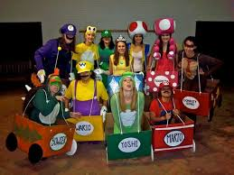2 mario kart costumes featuring our favorite characters from mario kart
