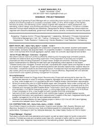 Good Resume Sample Of Engineer Project Manager Position Expozzer