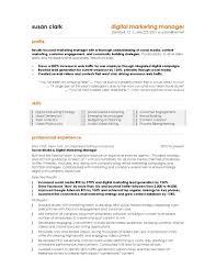 Marketing Resume Cover Letter Best Digital Cv Examples Templates