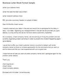 Business Letter Block Format Sample Just Letter Templates