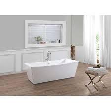 center drain bathtub in white