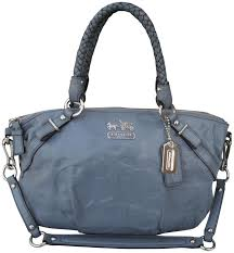 ... italy coach purple sophia blue gray signature satchel in wisteria 23e52  3b797 purchase coach madison logo signature medium black ...