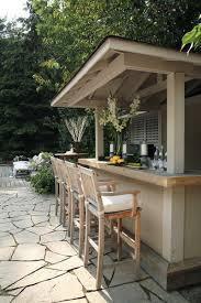 traditional outdoor patio bar
