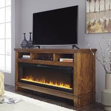 ashley furniture fireplace tv stand.  Stand Ashley Furniture Ralene XL TV Stand With Fireplace In Medium Brown Inside Tv 6