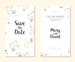 design templates for invitations cute wedding card free vector invitation design template simple