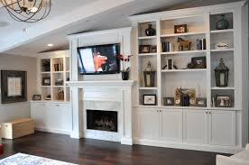 Oak Cabinets Living Room Craftsman Style Fireplace After White Ceiling And Painted Oak