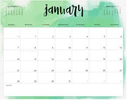 Blank Calendar Excel January 2018 Calendar Excel Template Calendar 2018