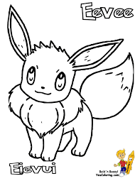 Small Picture Coloring Pages Cat Noir As Well Cute Pokemon Eevee Coloring Pages