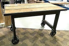 bar table on wheels dining table on wheels pine bar table on cast iron wheels pearl bar table on wheels