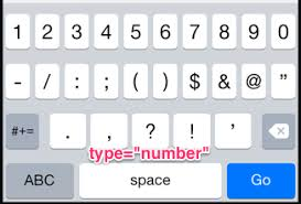 iPhone iOS Presenting HTML 5 Keyboard for Postal Codes Stack