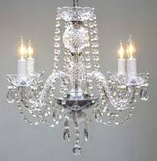 murano 4 light chandelier with clear silver trim