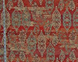 orange oriental rug fabric ombred upholstery