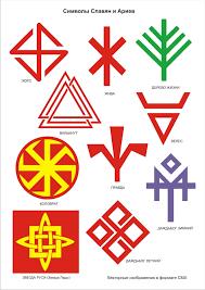 символы славян и ариев для русича Symbols Cards Playing Cards