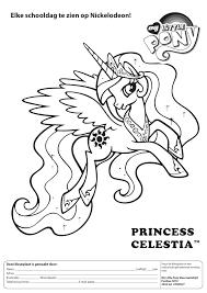 Kleurplaat Kleurwedstrijd My Little Pony Nr 5 Kleurplatennl