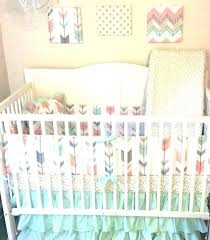 c and mint crib bedding grey nursery gray baby peach decoration baby bedding