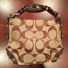 Authentic Coach Carly Signature Large Hobo Handbag