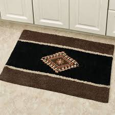 colton bath rug black 20 x 30